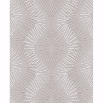 Picture of Feliz Champagne Beaded Ogee Wallpaper