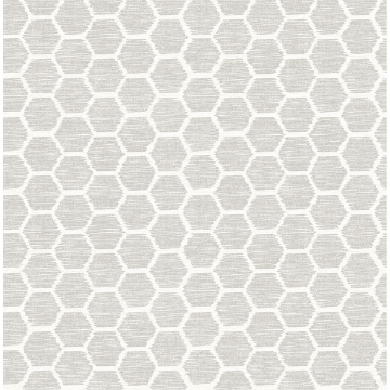 Picture of Aura Platinum Honeycomb Wallpaper