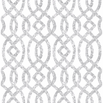 Picture of Ethereal Silver Trellis Wallpaper