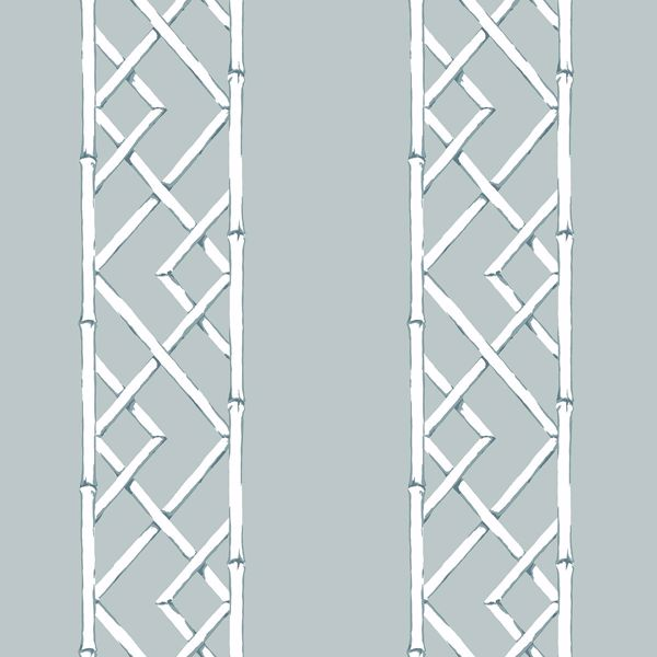 Picture of Latticework Aqua Wallpaper by Sarah Richardson
