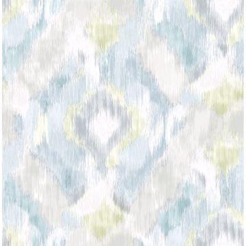 Picture of Mirage Aqua Wallpaper by Sarah Richardson