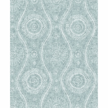 Picture of Painterly Aqua Wallpaper by Sarah Richardson
