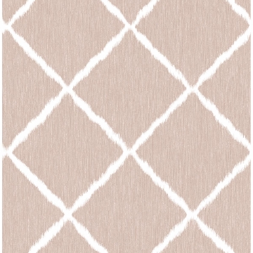 Picture of Petal Ikat Trellis Wallpaper by Sarah Richardson