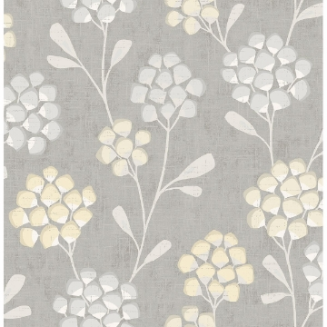 Picture of Scandi Flora Citrine Wallpaper by Sarah Richardson