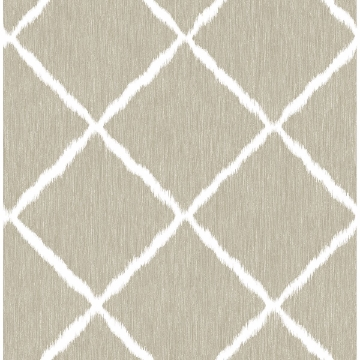 Picture of Linen Ikat Trellis Wallpaper by Sarah Richardson