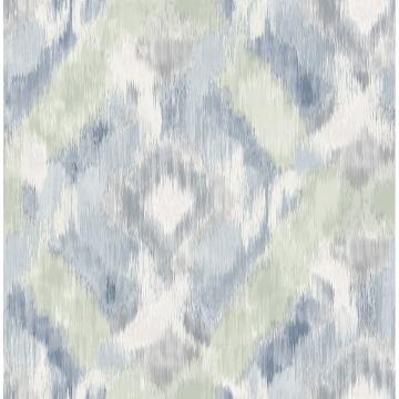 Picture of Mirage Denim Wallpaper by Sarah Richardson