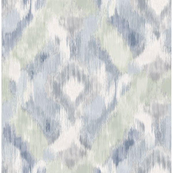 Picture of Mirage Denim Wallpaper by Sarah Richardson
