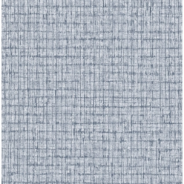 Picture of Denim Palm Weave Wallpaper by Sarah Richardson