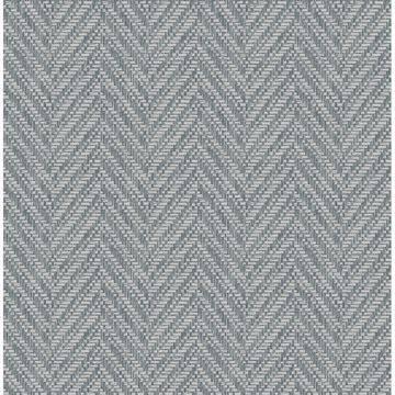 Picture of Ziggity Aegean Faux Grasscloth Wallpaper by Sarah Richardson