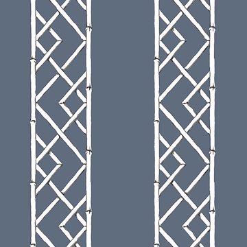 Picture of Latticework Indigo Wallpaper by Sarah Richardson