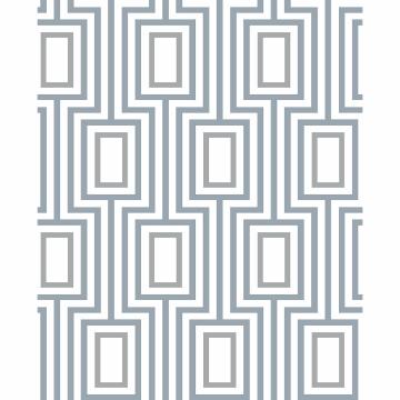 Picture of Denim Metro Mod Wallpaper by Sarah Richardson