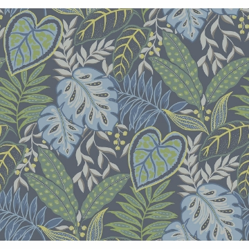 Picture of Jasmine Indigo Botanical Wallpaper by Sarah Richardson