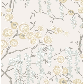 Picture of Peony Tree Citrine Wallpaper by Sarah Richardson