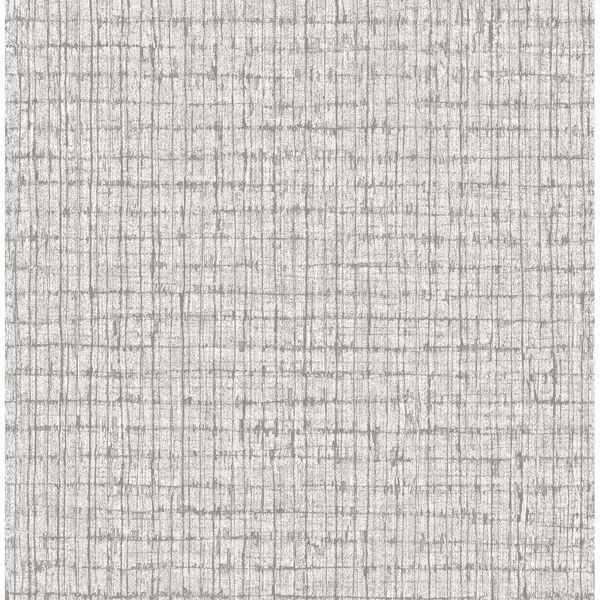 Picture of Graphite Palm Weave Wallpaper by Sarah Richardson