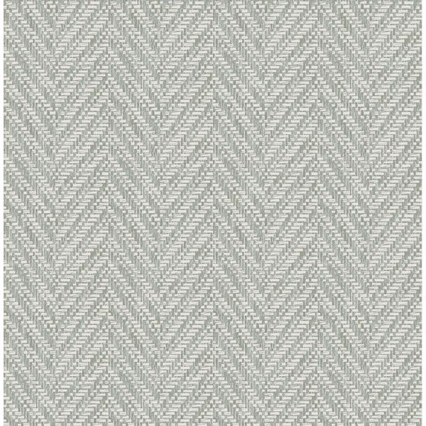 Picture of Ziggity Graphite Faux Grasscloth Wallpaper by Sarah Richardson
