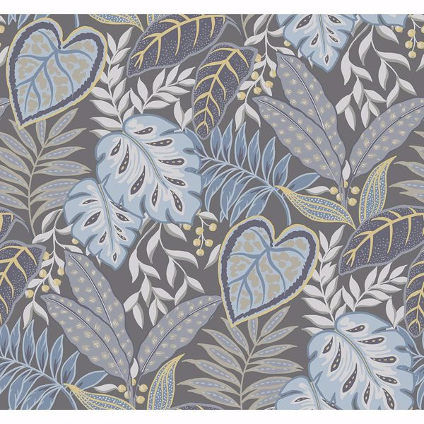 Picture of Jasmine Denim Botanical Wallpaper by Sarah Richardson