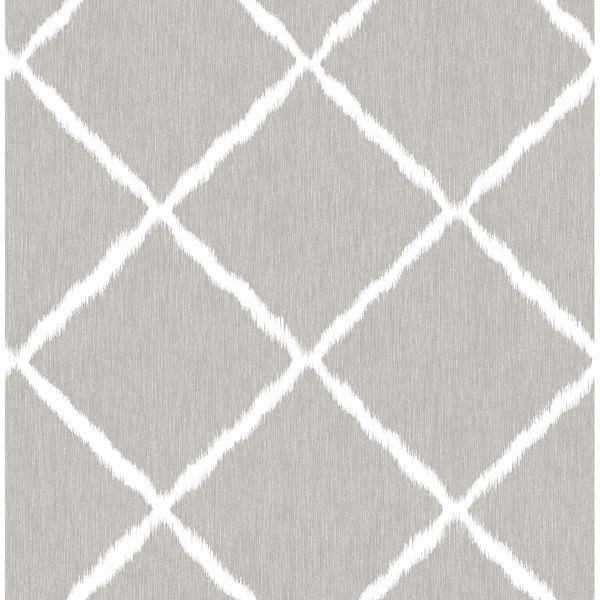 Picture of Sterling Ikat Trellis Wallpaper by Sarah Richardson