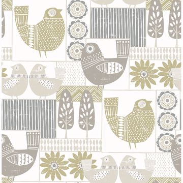 Picture of Hennika Grey Patchwork Wallpaper