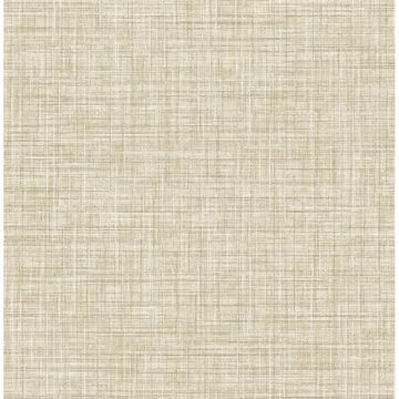 Picture of Mendocino Light Brown Linen Wallpaper