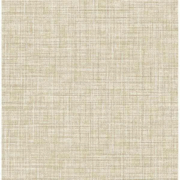 Picture of Mendocino Light Brown Linen Wallpaper