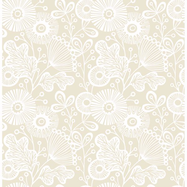 Picture of Ana Cream Floral Wallpaper