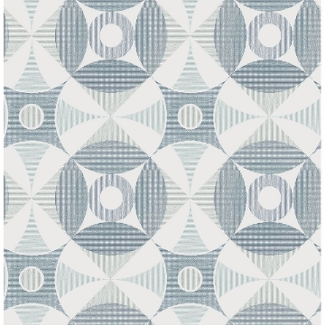Picture of Ellis Teal Geometric Wallpaper