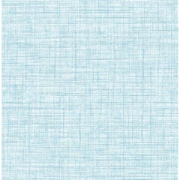 Picture of Mendocino Blue Linen Wallpaper