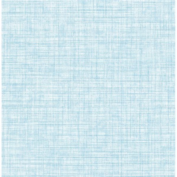 Picture of Mendocino Blue Linen Wallpaper