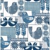 Picture of Hennika Blue Patchwork Wallpaper
