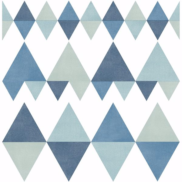 Picture of Trilogy Blue Geometric Wallpaper