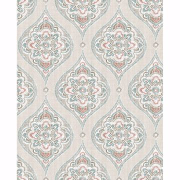 Picture of Adele Teal Damask Wallpaper
