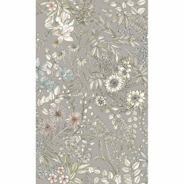 Picture of Full Bloom Beige Floral Wallpaper