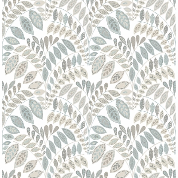 Picture of Fiddlehead Light Grey Botanical Wallpaper