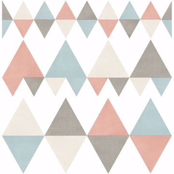 Picture of Trilogy Coral Geometric Wallpaper
