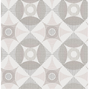 Picture of Ellis Light Brown Geometric Wallpaper