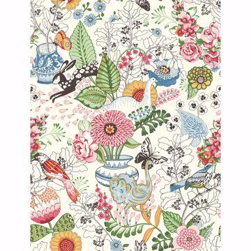 Picture of Whimsy Multicolor Fauna Wallpaper