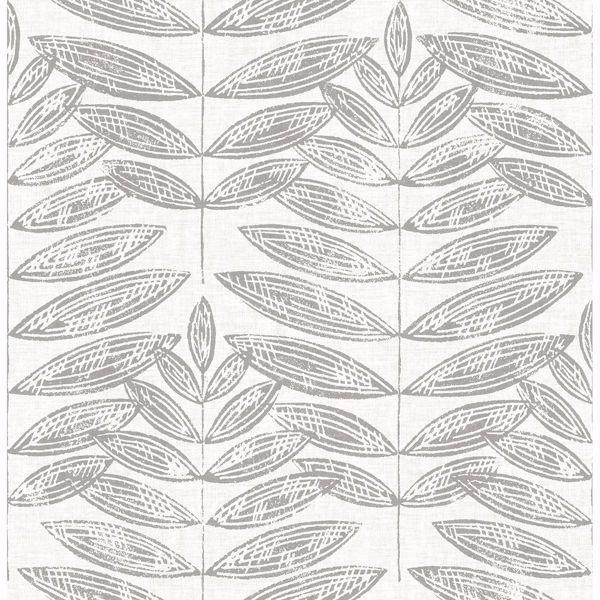 Picture of Akira Dove Leaf Wallpaper