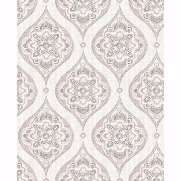 Picture of Adele Rose Damask Wallpaper