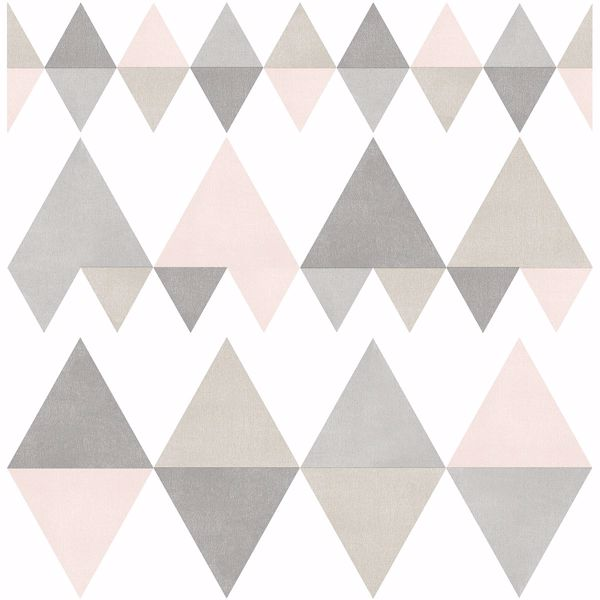 Picture of Trilogy Light Pink Geometric Wallpaper