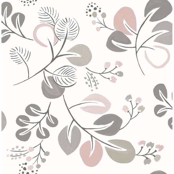 Picture of Jona Light Pink Trail Wallpaper