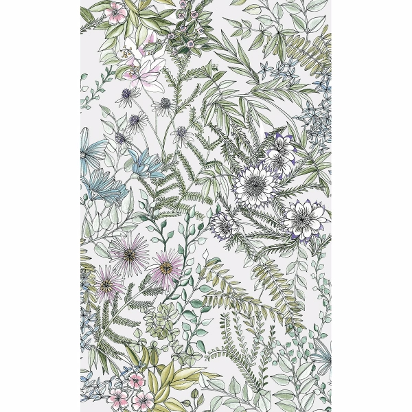 Picture of Full Bloom Off-White Floral Wallpaper