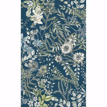 Picture of Full Bloom Navy Floral Wallpaper