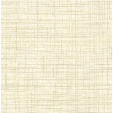 Picture of Mendocino Light Yellow Linen Wallpaper