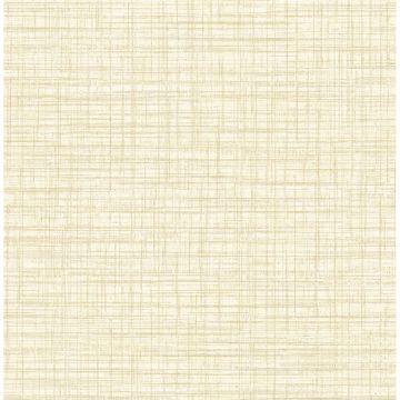 Picture of Mendocino Light Yellow Linen Wallpaper