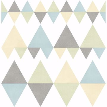 Picture of Trilogy Multicolor Geometric Wallpaper