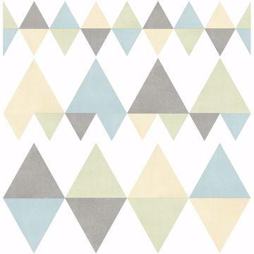Picture of Trilogy Multicolor Geometric Wallpaper