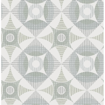 Picture of Ellis Sage Geometric Wallpaper
