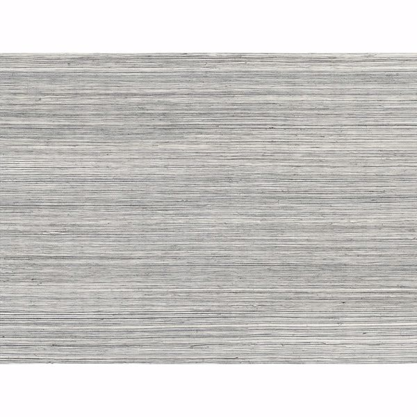 Picture of Baishin Silver Grasscloth Wallpaper