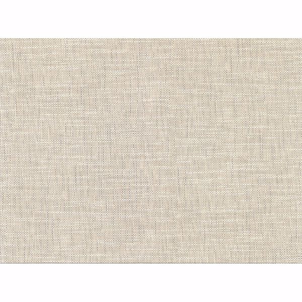 Picture of In the Loop Neutral Faux Grasscloth Wallpaper