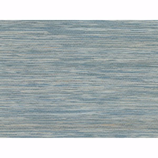Picture of Pattaya Blue Grasscloth Wallpaper